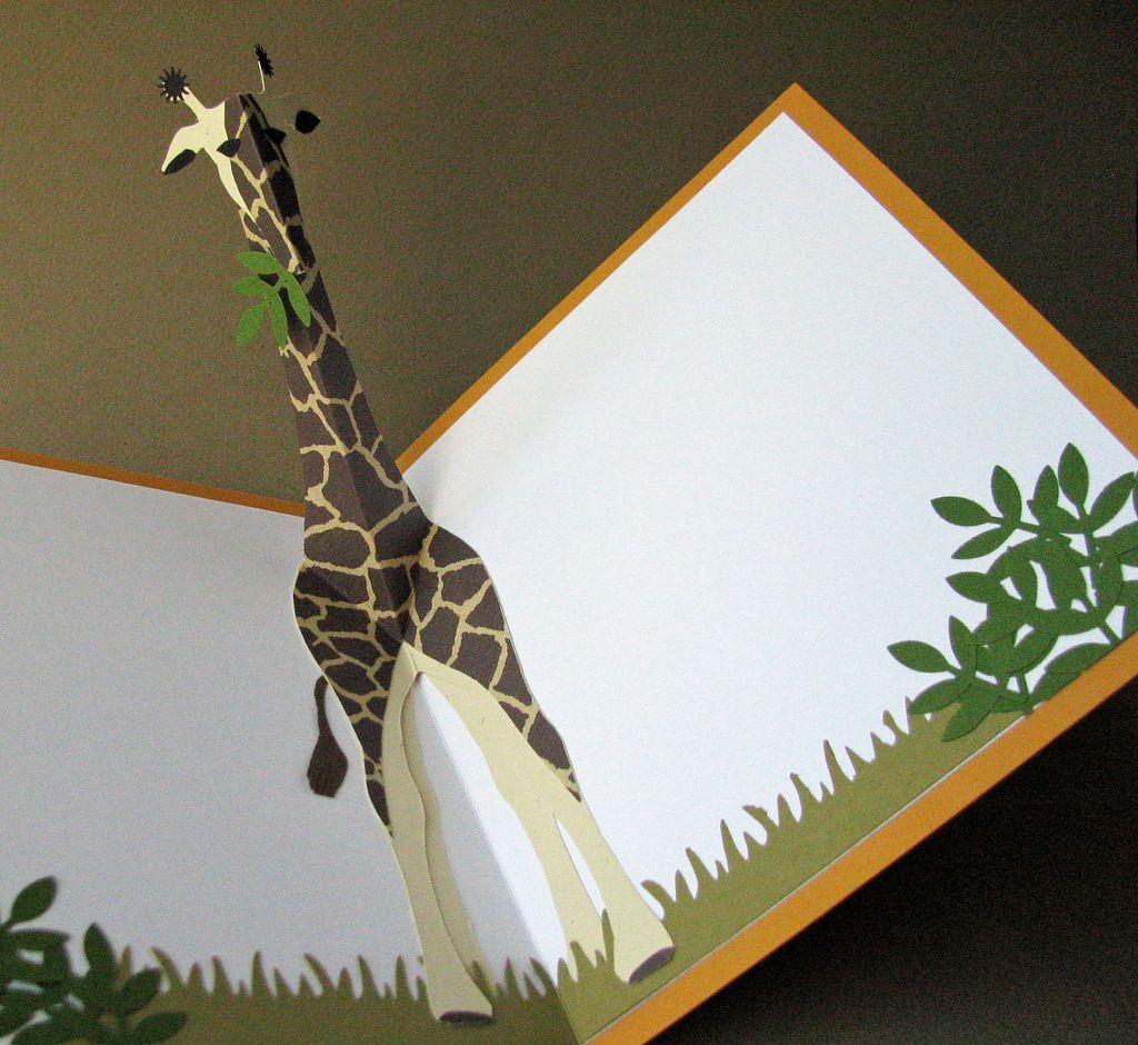 Giraffe Pop Up Pop Up Cards Diy Pop Up Book Pop Up Art