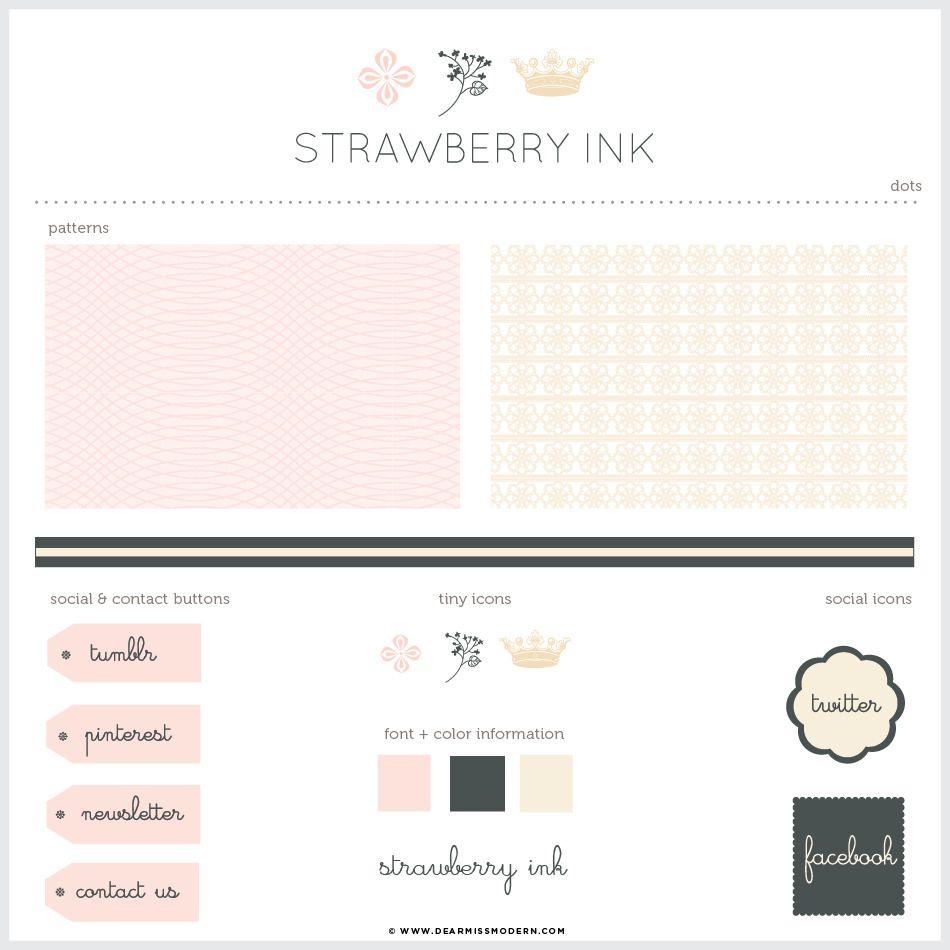 Strawberry Blog + Web Kit | Dear Miss Modern