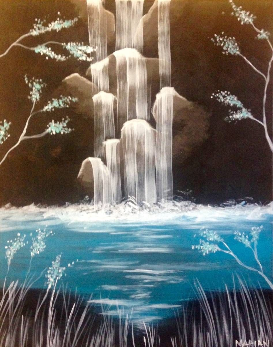 Crystal Falls | Art | Pinterest | Crystals, Paintings and Canvases
