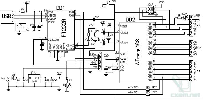 u0421 u0445 u0435 u043c u0430 arduino  u0441 usb