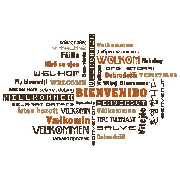 Vinilo bienvenido idiomas q quotes positivas motivadoras pinterest bienvenido idiomas y - Vinilo welcome ...