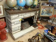 Vintage Electric Fireplace 50's Fiberglass with heater and fake ...