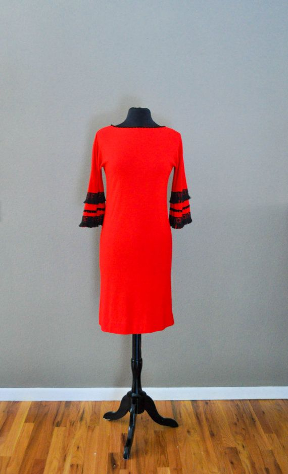 Spanish style red dress