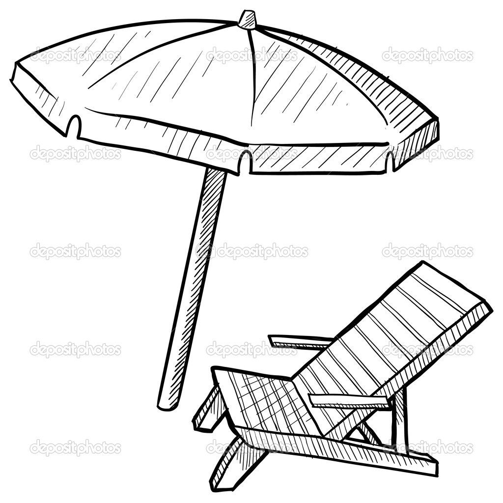 Beach Umbrella Coloring Page 4 Jpg 1 024 1 024 Pixels With Images