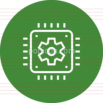 Chip Processor Cpu Outline Icon Technology Icon Icon Outline