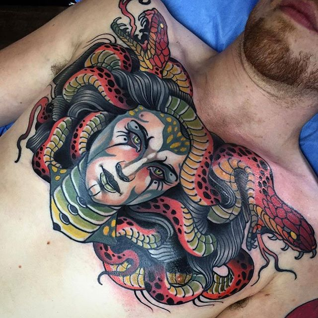 Tattoo Designs Qld: WEBSTA @tattoosnob Medusa By @samclarktattoos In Noosa
