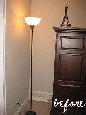 Torch Lamp Makeover Lamp Makeover Floor Lamp Makeover Diy Lamp Makeover