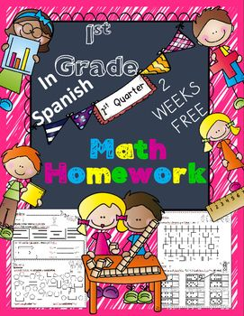 Free Sample 1st Grade Math Homework In Spanish Whole Year