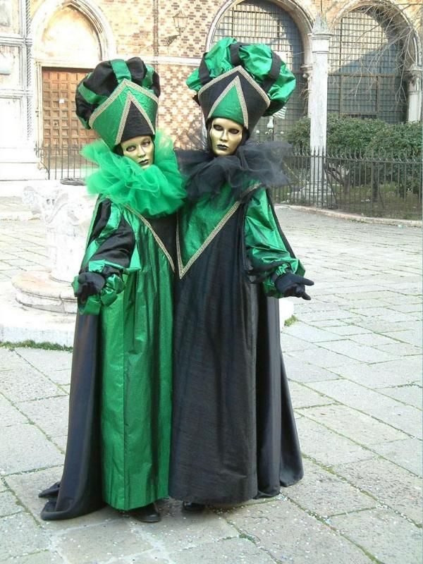 emerald green and black - full costumes