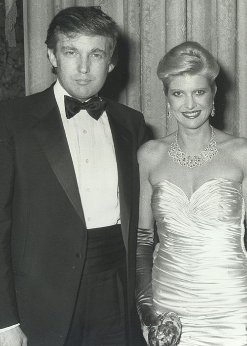 Brides Donald Trump Wedding Pictures Ivana Marla Maples Melania Knauss
