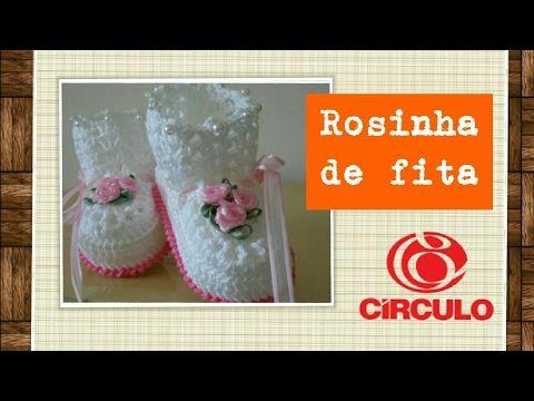 Versão destros: Rosinha de fita de cetim fácil # Elisa Crochê - YouTube