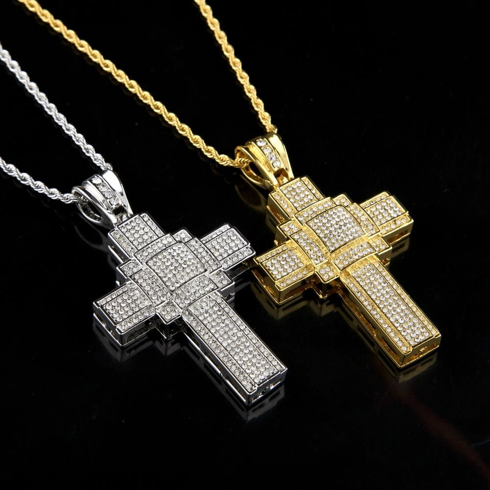 "Mens 14k Gold Plated Jesus Anchor Pendant 6mm 30/"" inches Cuban Necklace Chain"