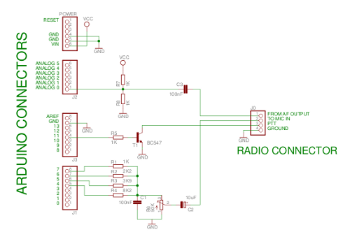 electronic schematic arduino This simple schematic will