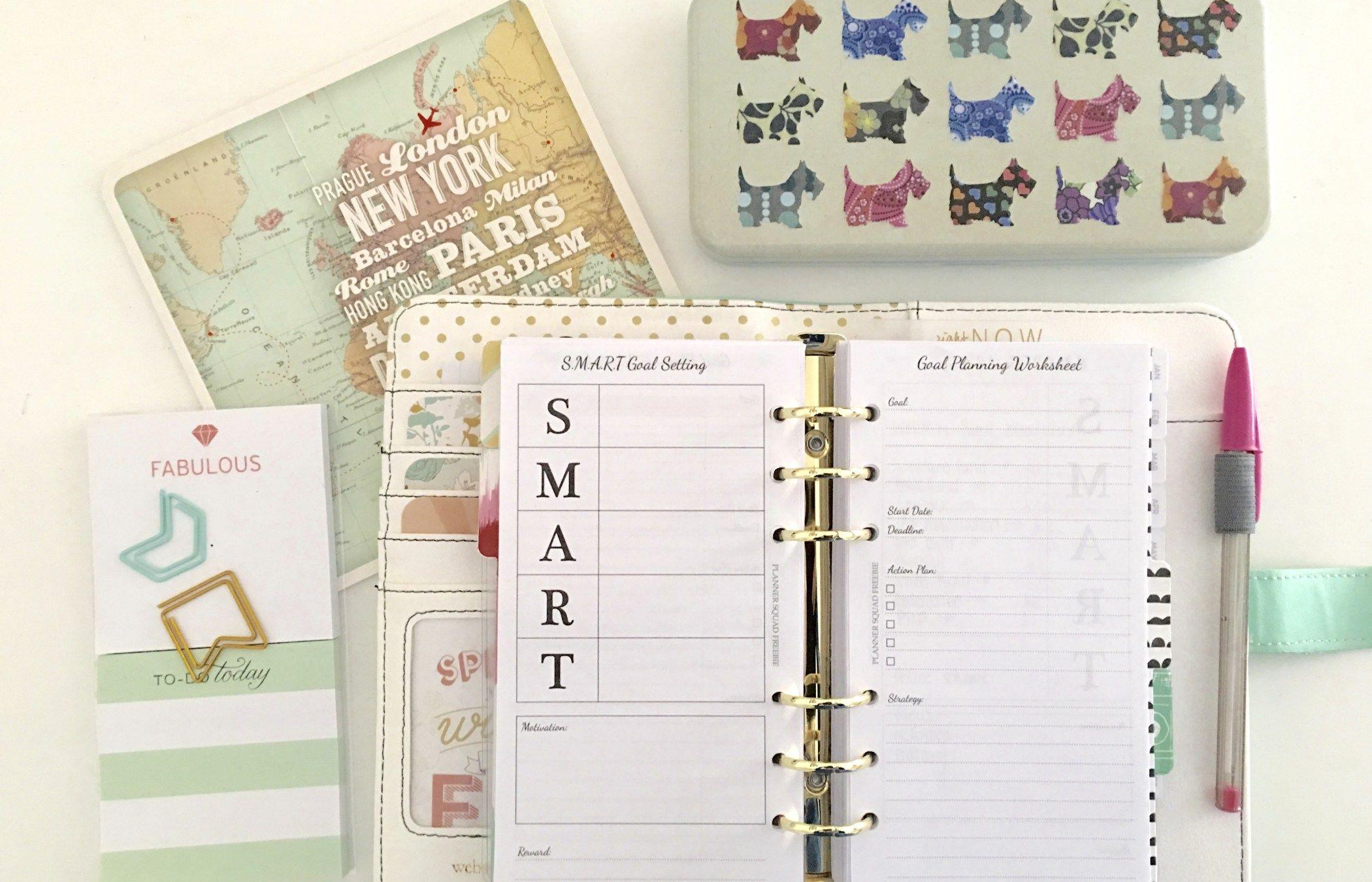 Free Goal Setting Printable Worksheet For Your Planner