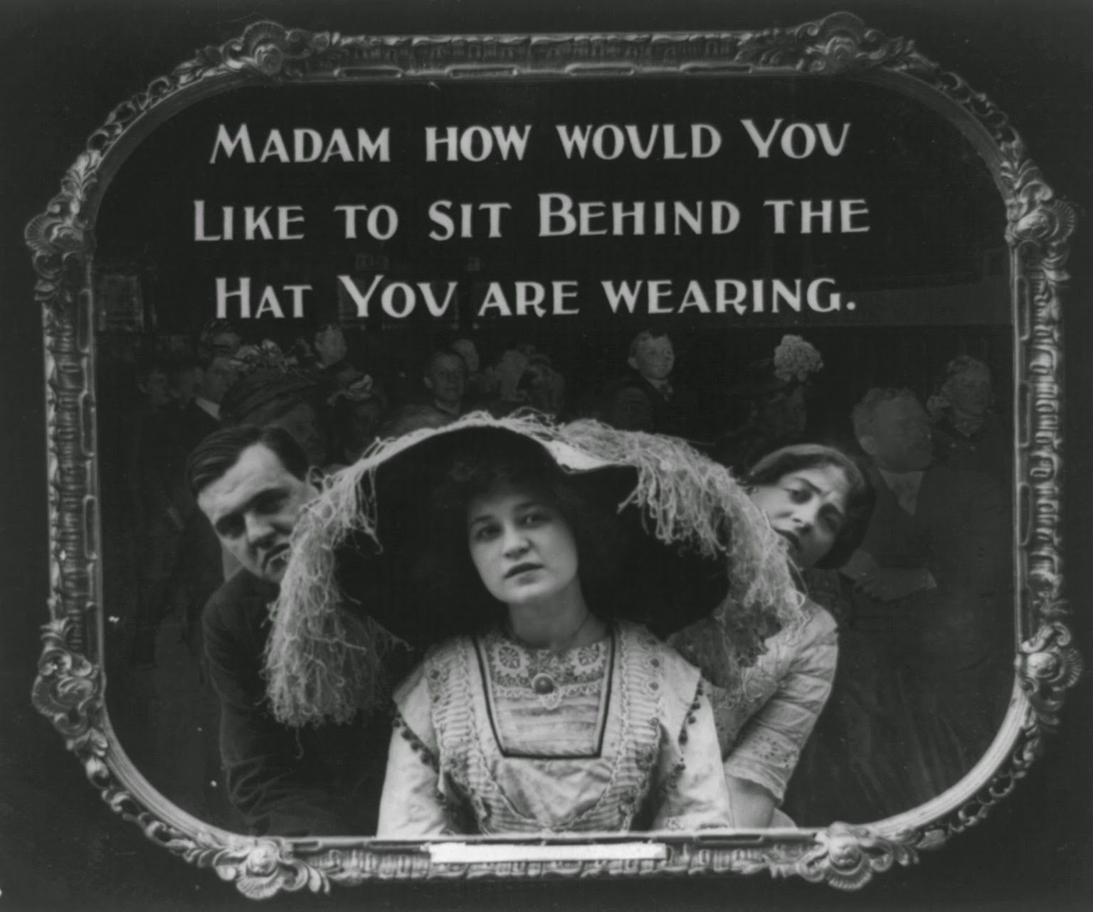 movie theatre etiquette poster from 1912 madam how would you like