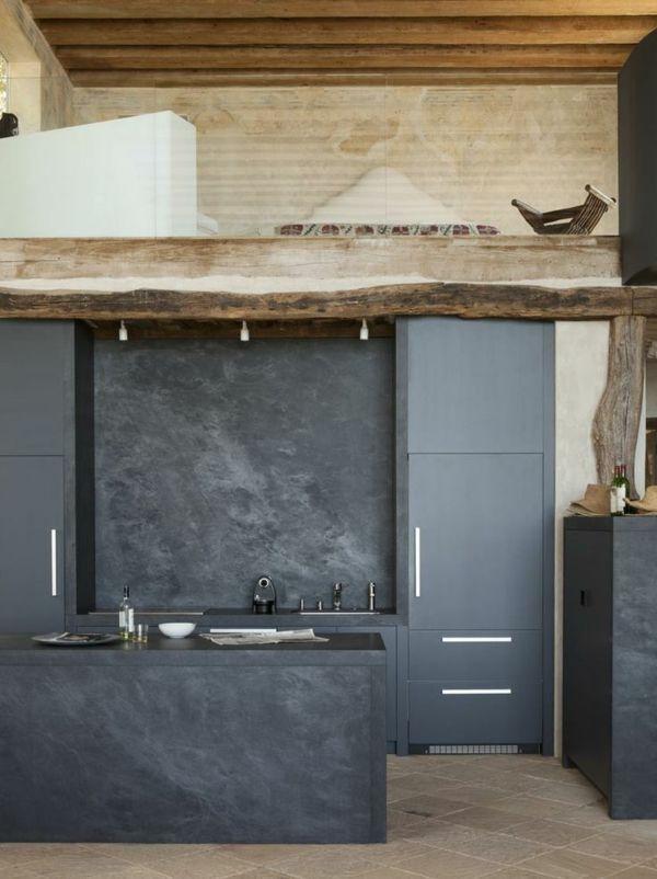 wohnideen küche design dunkekfarbig holzelemente Küchen - küchen selber planen