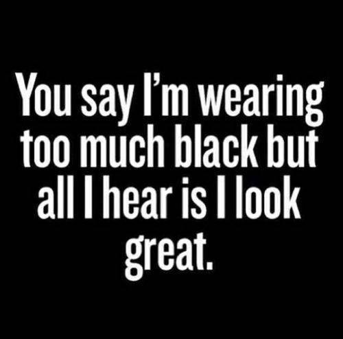 On wearing #black