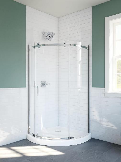 Delta 38 In X 72 In Frameless Corner Sliding Shower Door In