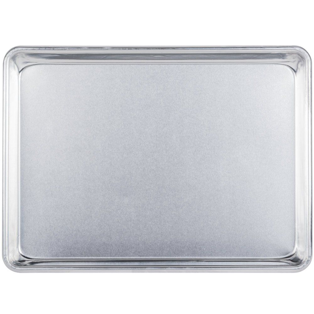 Baker S Mark Quarter Size 19 Gauge 9 1 2 X 13 Wire In Rim Aluminum Bun Sheet Pan In 2020 Sheet Pan Aluminum Baking Pans Pan