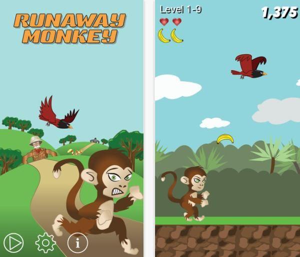 Runaway Monkey addictive free iPhone game Free iphone