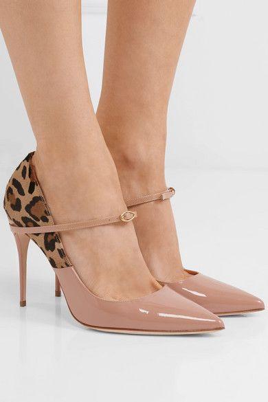 Lorenzo Leopard-print Calf Hair And Patent-leather Pumps - Neutral Jennifer Chamandi 98rZPVad