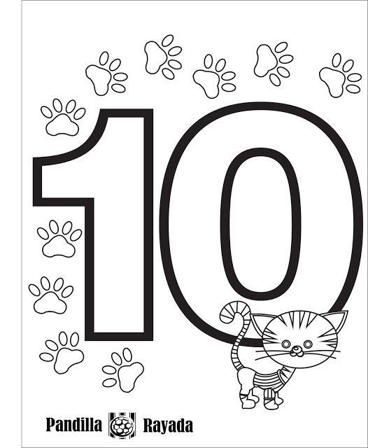 Trabajando en Educación Infantil: 10 fichas del número 10 | Blog ...