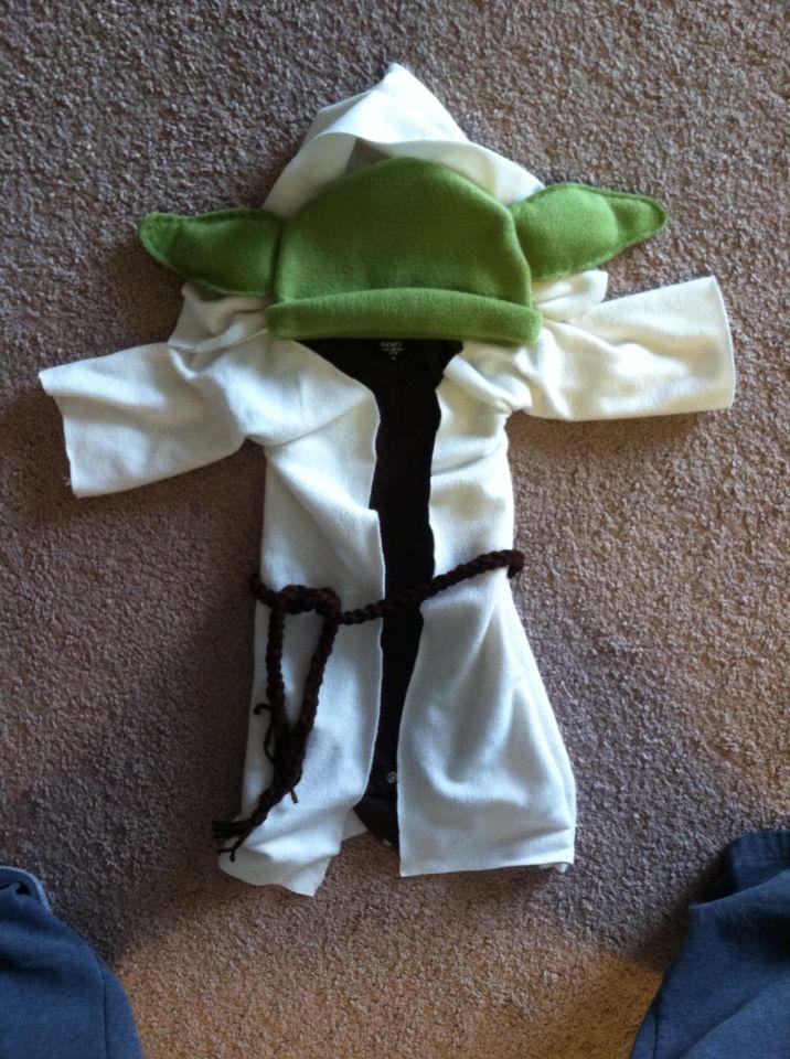 Diy Baby Yoda Costume Diy Ideas Baby Halloween