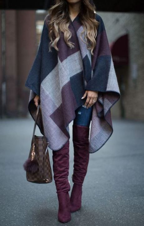 5a4eef82968d 25 Winter Date Night Outfits To Copy Right Now   Pinterest   Ponchos ...