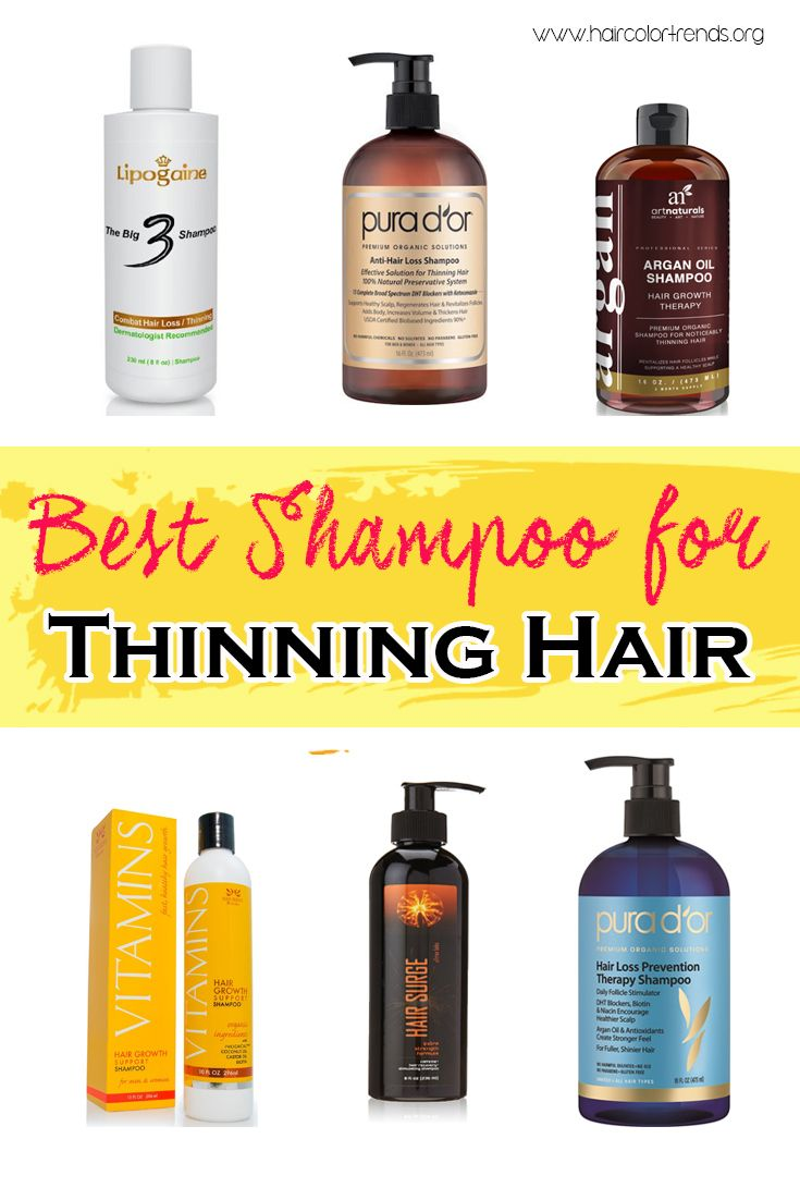 Best Shampoo for Thinning Hair | Hair coloring, Thin hair and ...