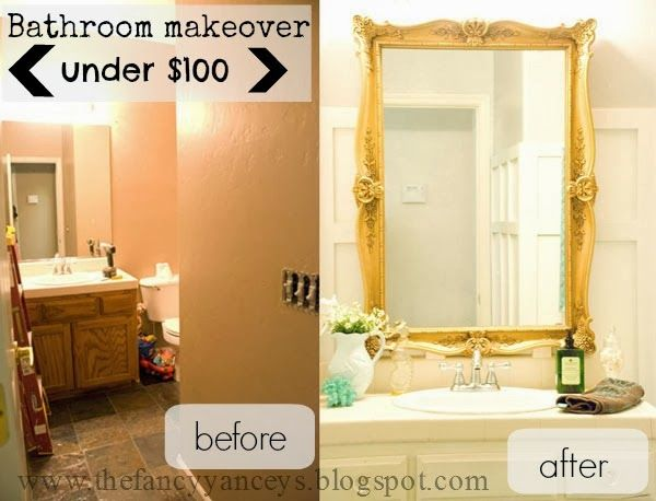 $100 Chic Bathroom Makeover | Vintage Romance Featured On Remodelaholic.com  #budget #style