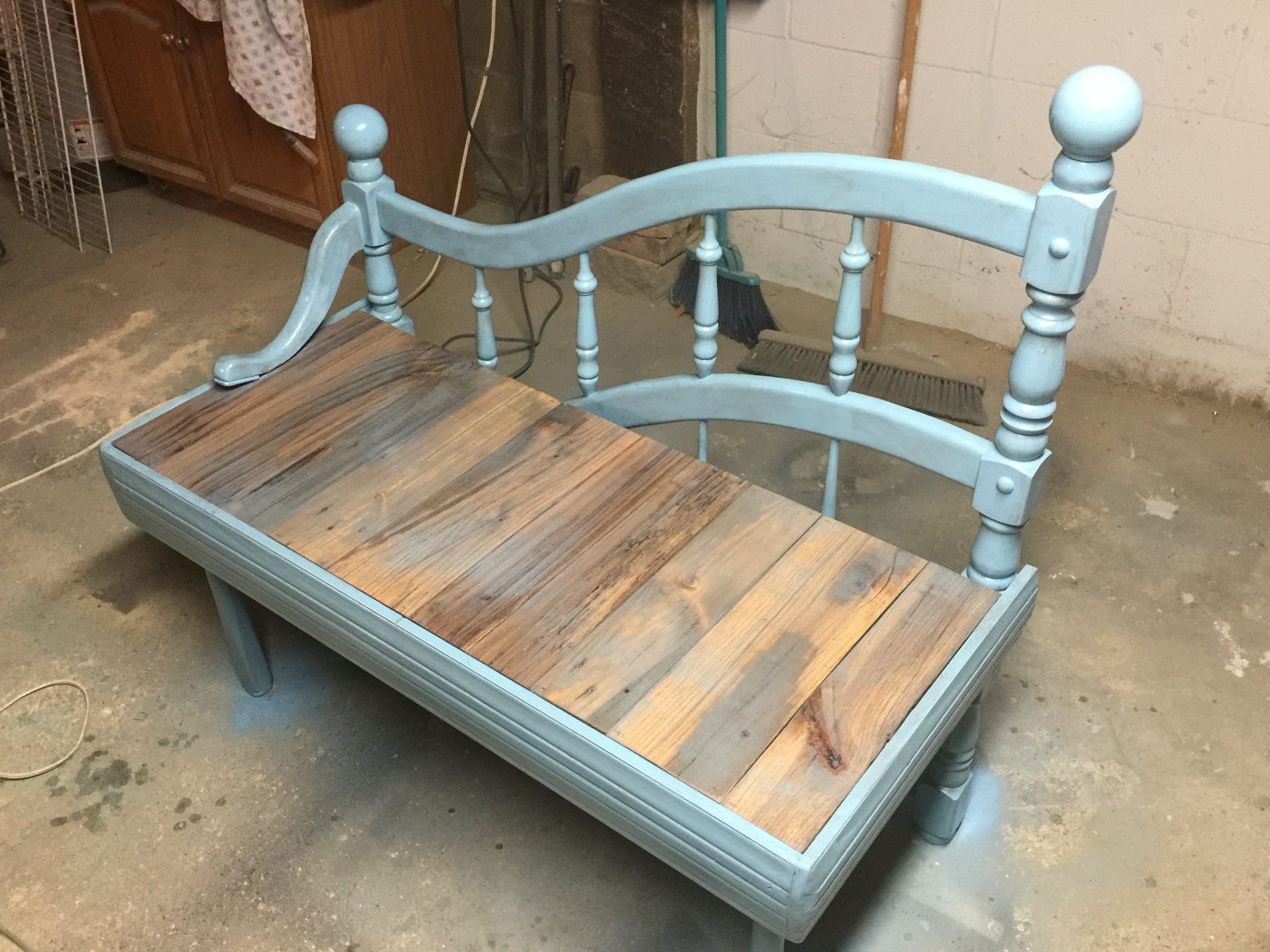 Repurposed Day bed - Small Corner bench