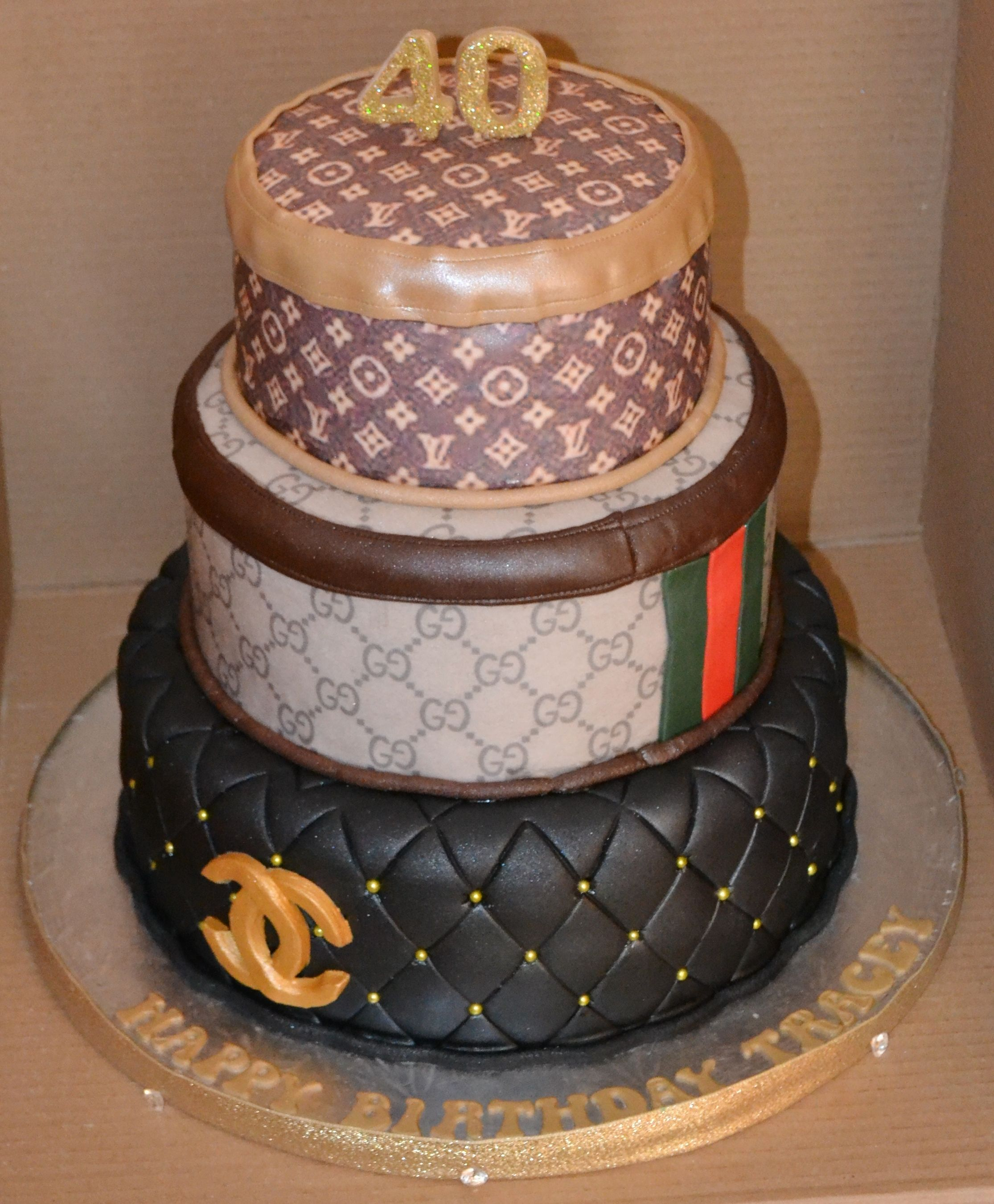 0c34860004580 chanel, gucci and louis vuitton 3 tier cake | Great Birthday Cake ...