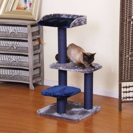Superbe PetPals Group Fern Cat Tree   The Stately Blue And Gray PetPals Group Fern Cat  Tree Looks Good In Any Home. This Attractive Cat Tree Boasts Three Fleece  ...