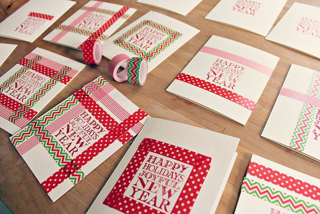 Washi Tape Holiday Cards // babble dabble do