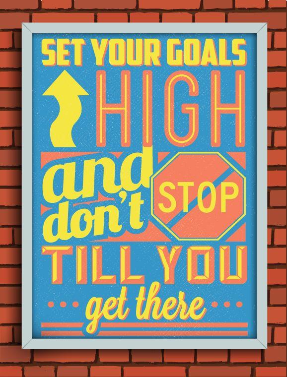 Gorgeous Retro Typographic Posters Of Motivational Quotes Designtaxi Com Motivational Quote Posters Typographic Poster Quote Posters