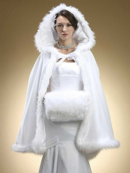 RMdress Brautkleider Warm Winter Pelz Jacke Mit Kapuze Cape Hochzeit ...