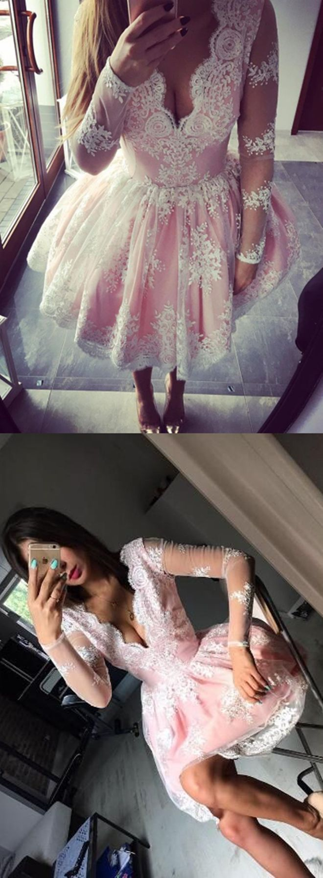 2017 homecoming dresses,lace homecoming dresses,pink homecoming dresses,simple homecoming dresses @simpledress2480