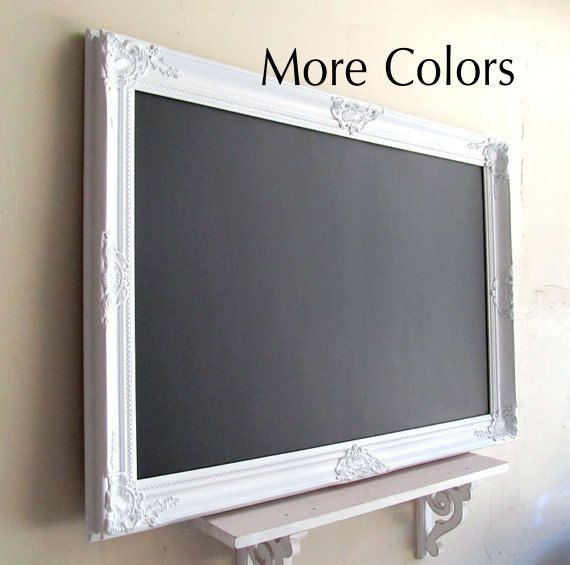 Framed CHALKBOARD Wedding Sign MORE COLORS Large Kitchen Chalk Board  Magnetic White Restaurant Framed Chalkboard Office