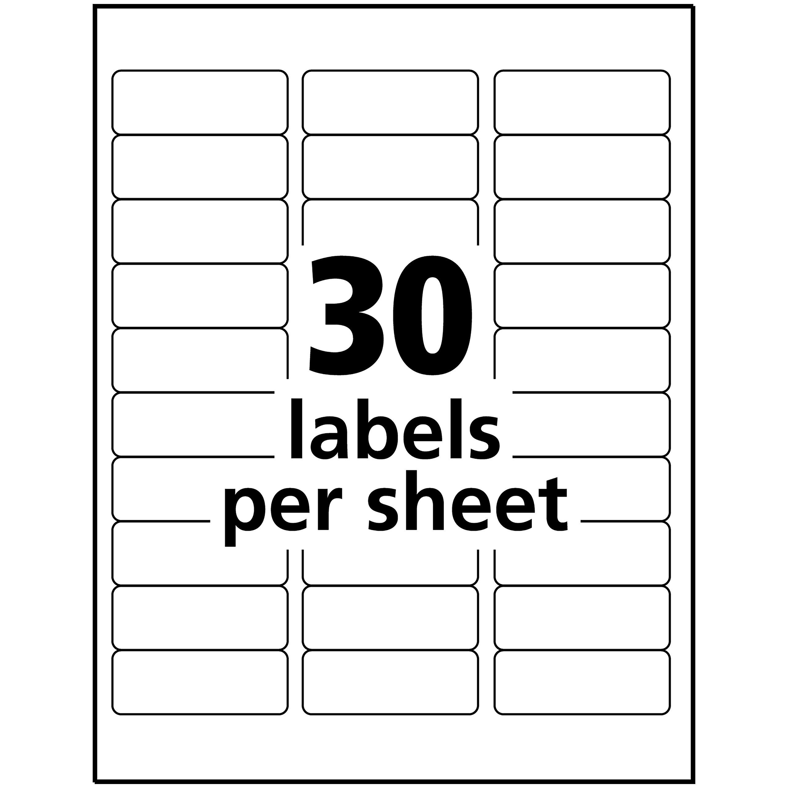 Avery Address Labels With Gold Border For Inkjet Printers 1 X 25 8 300 Labels 6529 Information Could Be L Label Templates Inkjet Labels Free Label Templates