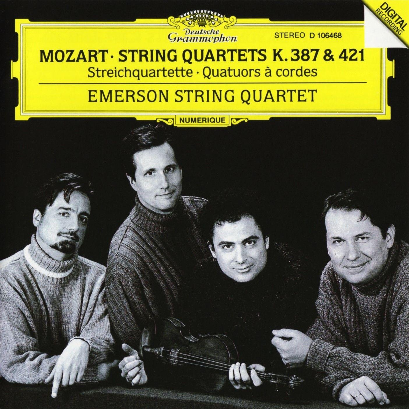 Mozart, String Quartets K  387 & 421, Emerson String Quartet