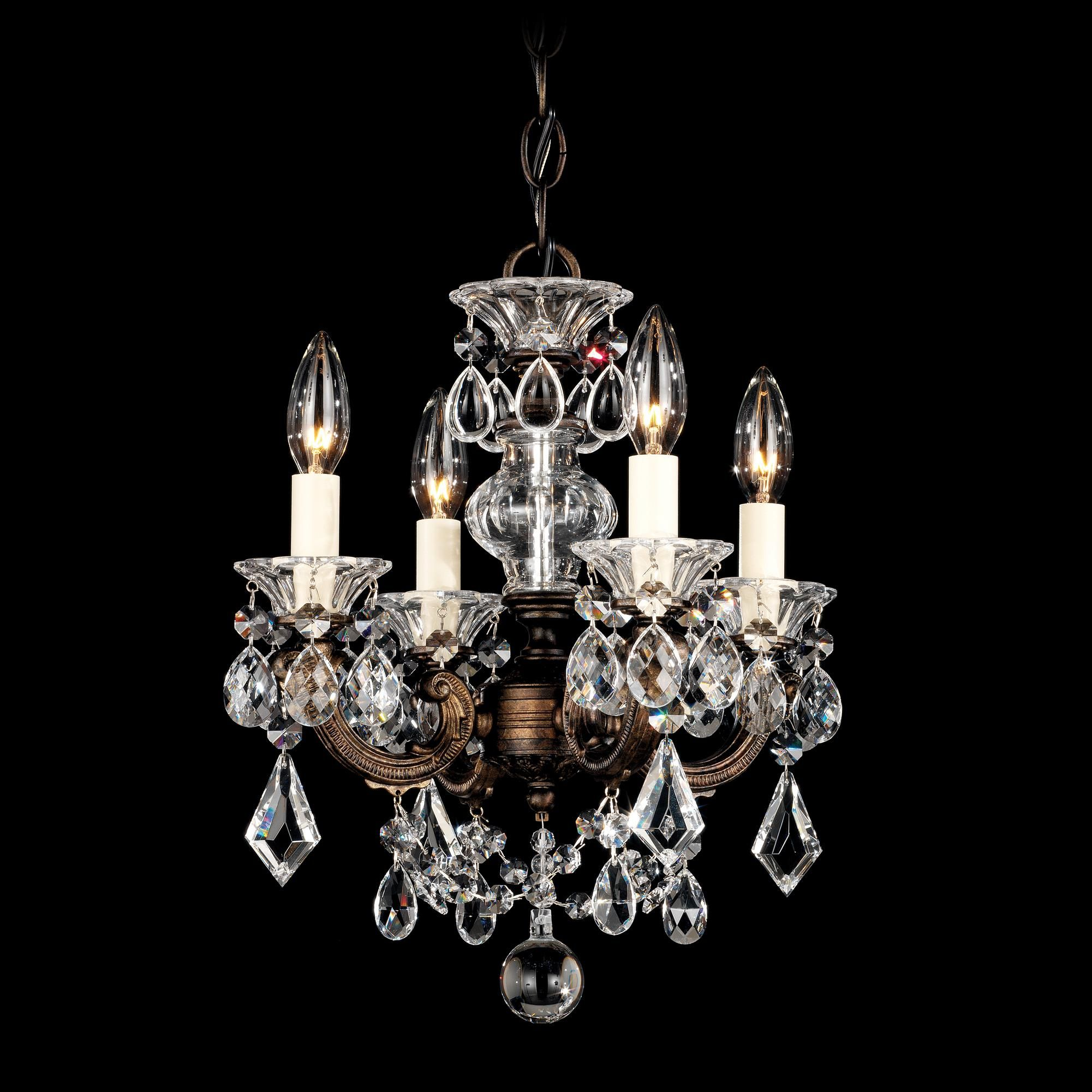 "Schonbek La Scala 12 1 2""W Heritage Crystal Mini Chandelier"
