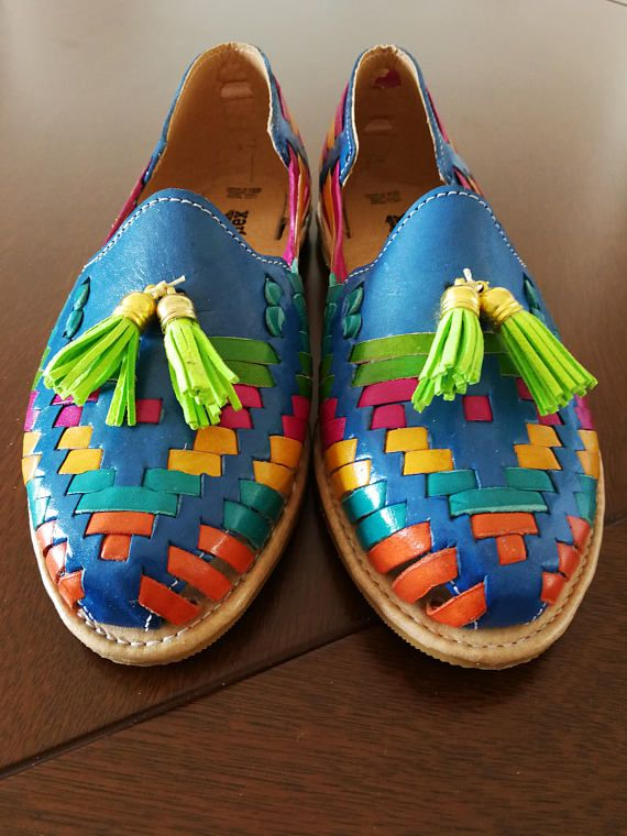 b6e9c2db4a7 Mexican rainbow sandalias sandalias Huaraches mexicanos