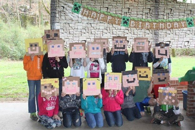 Use post-it notes to create your own IRL Minecraft skins. Need cardboard or cardstock square base, colored post it notes, maybe tape. Kids can make their own face ALA Minecraft