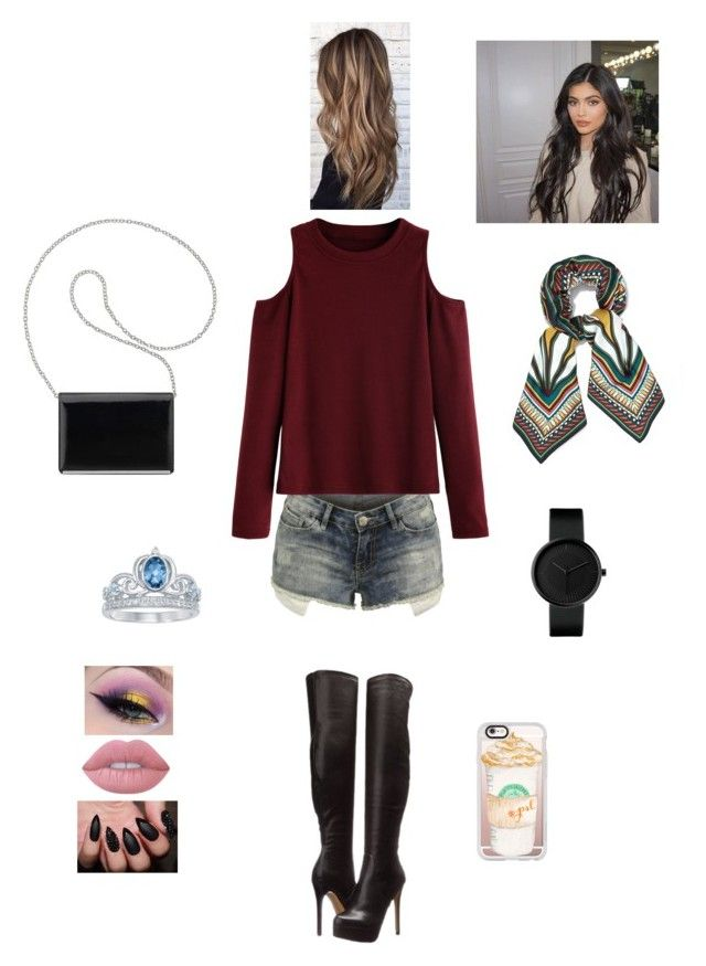 K B A H C G B F K by queen-kaitlyn on Polyvore featuring WithChic, Chinese Laundry, Nine West, Disney, Tory Burch, Casetify and Lime Crime