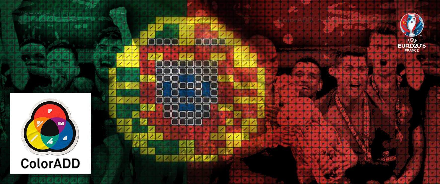 #futebol #ronaldo #fpf #seleção #euro #euro2016 #coloradd #colorisforall #colorblind #daltonico #socialimpact #innovation #inovação #uefa