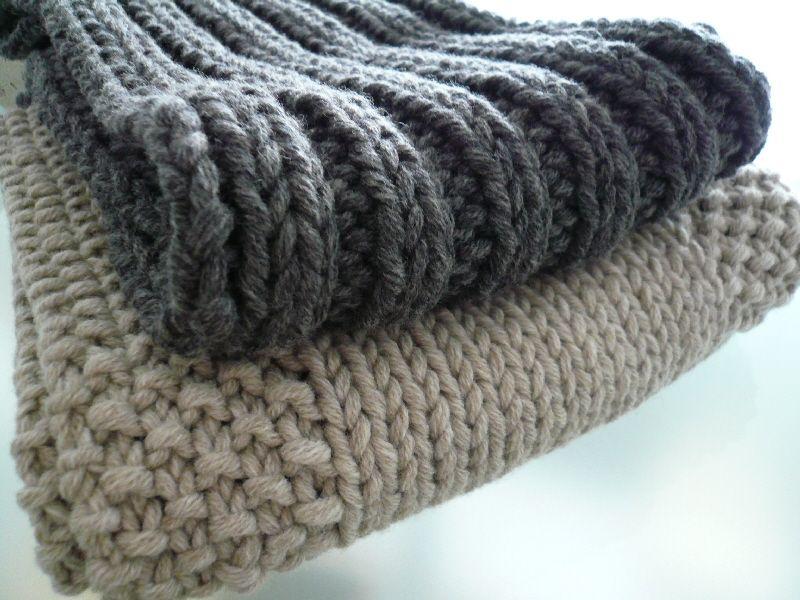 tricoter une echarpe au point de ble