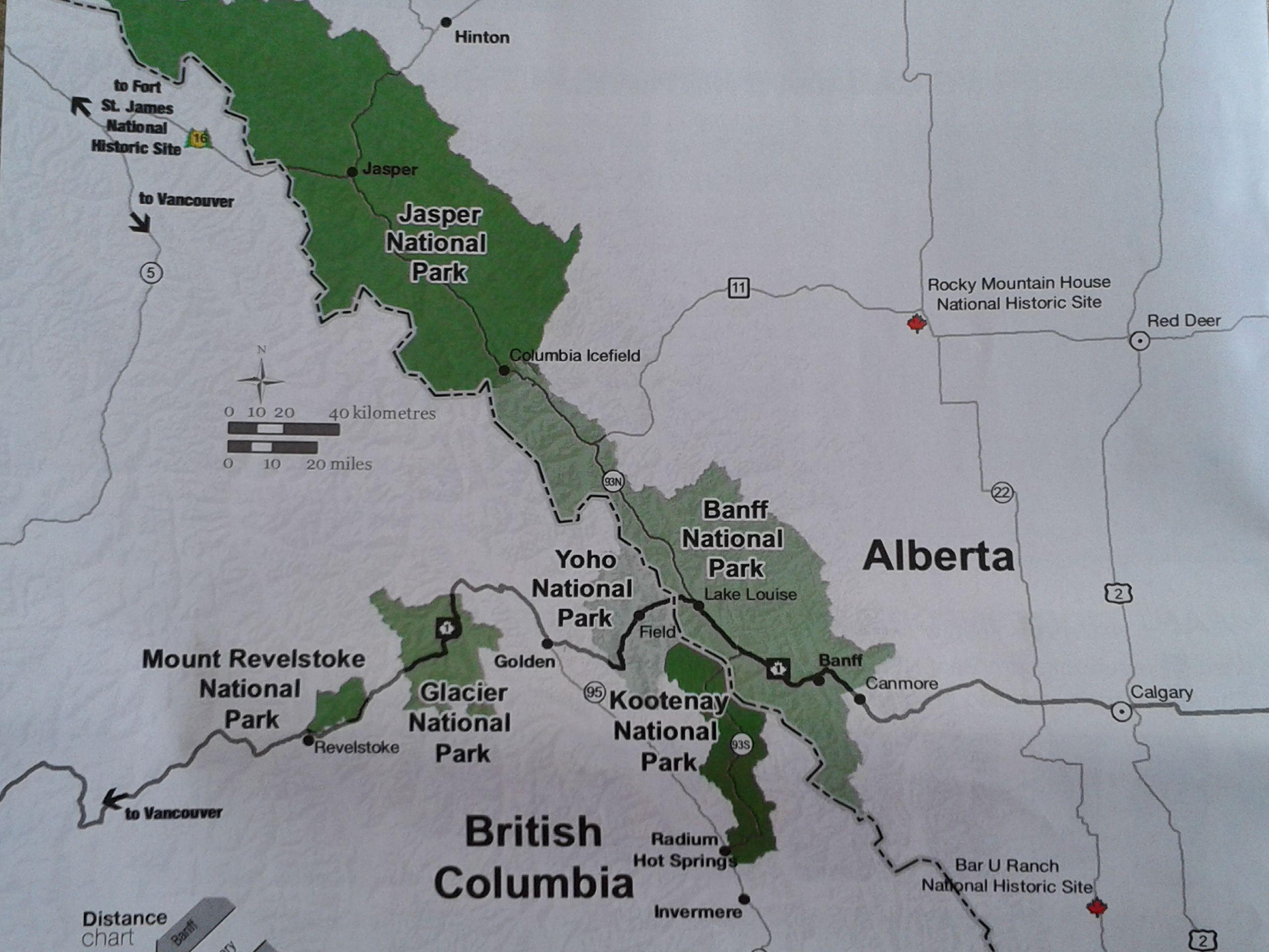 Parques naturales en Alberta
