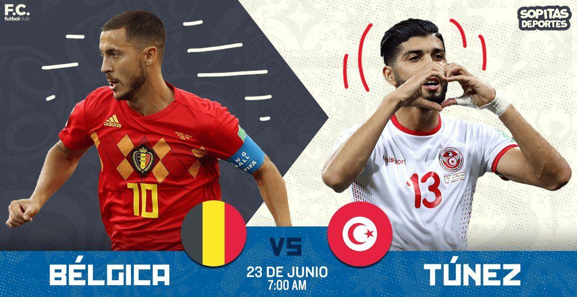 El partido Bélgica vs Túnez en Vivo en el mundial Rusia