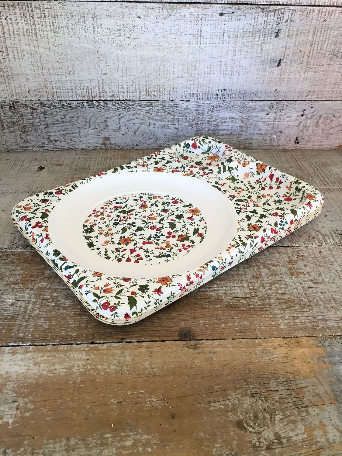 Food Trays 6 Snack Trays Cafeteria Trays Floral Plastic Food Trays Picnic Plates Picnic Set Party & Food Trays 6 Snack Trays Cafeteria Trays Floral Plastic Food Trays ...