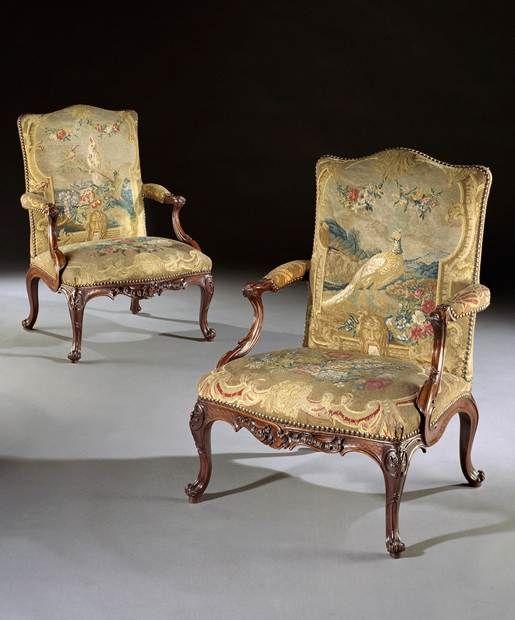 The Glemhall Hall Gainsborough Armchairs Price Range 100 000 Mobilier De Salon Mobilier Beaux Meubles